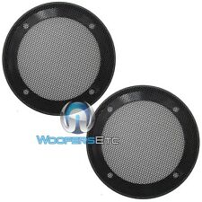"(2) UNIVERSAL 4"" SPEAKER COAXIAL COMPONENT PROTECTIVE CAR GRILLS COVERS NEW PAIR"