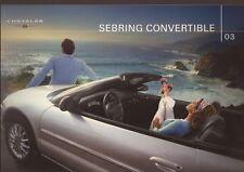 2003 03 Chrysler Sebring Convertible sales brochure