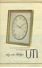 PUBLICITE ADVERTISING 1965 UTI pendule pendulette horlogerie