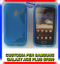 Custodia cover case WAVE BLU per Samsung Galaxy Ace plus S7500 (H8)