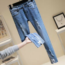 Women's fashion trend denim jeans KREDM3006#