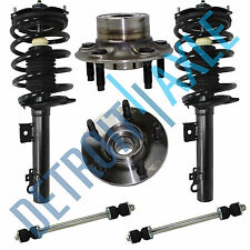 2 Rear Complete Quick Struts + 2 Wheel Hub Bearing Non-ABS + 2 Sway Bar Link Kit