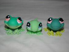 Littlest Pet Shop LPS 2005-06 Lizard Gecko Frog Grenouille #236 #562 #751 Lot