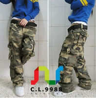 Hot Sale Women's Military Army Casual Camo Cargo Pocket Pants Trousers Outdoor