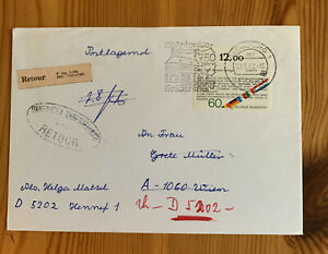 Interesting German Cover - Retour Stamp - See Photos