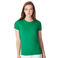 American Apparel #2102, 100% Cotton Women's T-shirts, 10 Colors, Sm-2XL USA Made