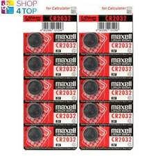 10 MAXELL CR2032 LITHIUM BATTERIES 3V COIN CELL DL2032 EXP 2023 NEW