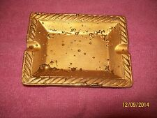 """3X4"""" CERAMIC GOLD DROP FINISH,HAND DEC.,PERSONAL,WEEPING-BRIGHT GOLD ASHTRAY"""