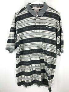 Phat Farm Polo Shirt Mens 2XL XXL Gray Adult Short Sleeve Hip Hop Y2K