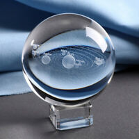 3D Solar System Crystal Ball Planets Glass Ball Laser Engraved  Home Decor WDCWU