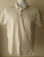 Calvin Klein Jeans  Men's Polo Shirt   White & Green  Size XL (18-20)  VGC.