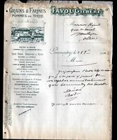 """COMMENTRY & LUNERY (03 / 18) FOURS à CHAUX / FARINES GRAINS """"FAYOL Gilbert"""" 1910"""