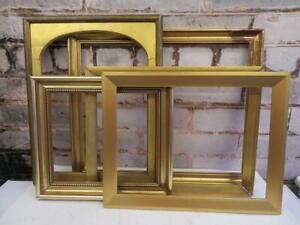 vintage OLD picture frame GOLD frames FIVE frame LOT