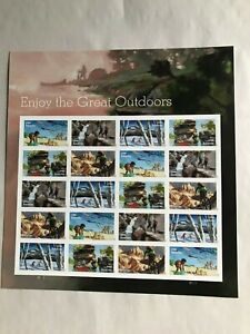 """US postage Stamp, #5475-79, """"Enjoy The Great Outdoors"""", Full sheet, Forever, MNH"""
