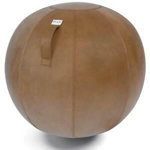 Vluv Veel Lederimitat-Sitzball Durchmesser 60-65cm Cognac / Hellbraun