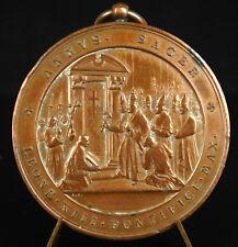 Médaille scène au Vatican Pape Pope Leo Léon XIII anno sacer Pontifice medal
