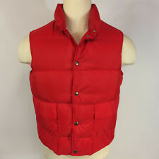 Minty Vintage LL Bean Goose Down Puff Puffer Vest Coat Jacket Red USA Made M