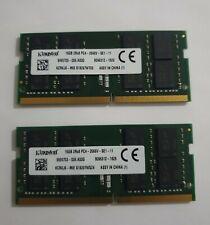 Kingston 32GB 2x16GB DDR4 PC4-21300 2666MHZ 260PIN SODIMM 1.2V laptop ram Memory