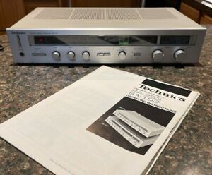 Vintage Technics SA-103 AM/FM Stereo Receiver with Manual (Nice!)