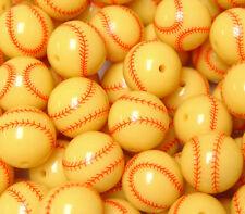 Softball Style 20mm Round Beads Big Round Chunky Bubblegum Large Acrylic Crafts