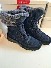 Rohde Sypatex Winter Stiefel gesteppt Gr 40,5  Innenfutter Fell blau  2913