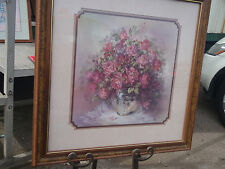 Home Interior by Julia Crainer Large picture Glass bowl w burgandy  roses