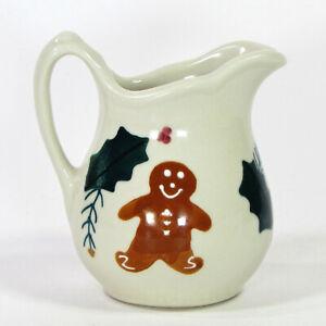 Hartstone Pottery CHRITMAS TRADITIONS 8oz Creamer Gingerbread Pine Vintage 1983