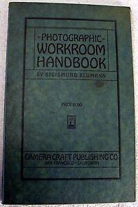 Photographic Workroom Handbook | 1927 | original 1st Edition | Fairly rare |