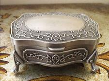 Antique style Metal Jewelry Trinket Vintage Box