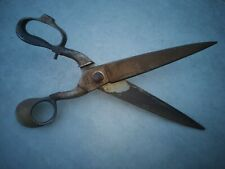 Ancienne grande paire de ciseau tailleur, drapier ... acier Nogent chrome