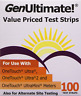 100 Genultimate Blood Glucose Test Strips