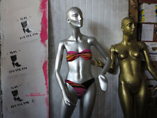 Sporett Bademoden Bikini Samt Lycra 38 pink TRUE VINTAGE 80s women's swimsuit