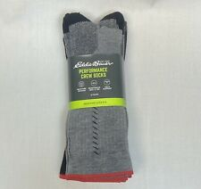 Eddie Bauer 4-pack Performance Crew Socks Mens Wicking Arch Support-TENCEL