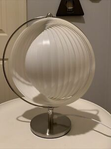 Mid Century Modern Verner Panton Style Moon Orbital Eclipse Desk Lamp Chrome #2