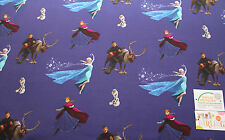 Jersey Stoff Eiskönigin Frozen Elsa Anna Olaf Öko Tex 100 Disney dunkelblau