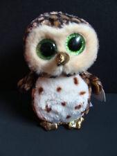"NWT TY Beanie Boos 6"" SAMMY Owl Green Sparkly Eyes Boo Gold Bird Plush 2016 NEW"