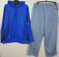 NIKE KO THERMA-FIT SWEATSUIT HOODIE + PANTS ROYAL BLUE GREY NEW RARE (SIZE 3XL)