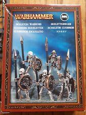Boite neuve CITADEL WARHAMMER guerriers squelettes skeleton warriors 2005 35-30