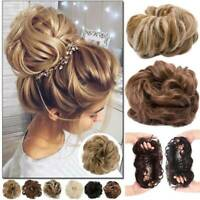 Hair Bun Synthetic Messy Curly Scrunchie Wrap Ponytail Extensions Wavy Flexible