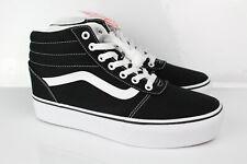 Vans Women's Ward Hi Skateboarding Shoes Size 9.5 Black White