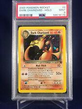2000 Pokemon Team Rocket Holofoil Graded PSA 9 #4 Dark Charizard