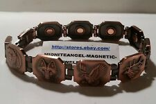 """COPPER BEAR WOLF DUCK DEER HUNTING MAGNETIC THERAPY BRACELET MENS HEALTH 8 1/4"""""""