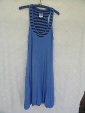 Athleta Knit Dress Misses L Blue On Blue Viscose Stretchy Reversable Boho New