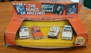 ERTL 1570 1981 Dukes of Hazzard 4 piece set 1/64 1969 Dodge Charger General Lee