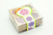 Quartet 4pcs Stamps Lace Pattern Mounted Rubber Stamp Scrapbook Card Making