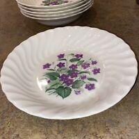 Royal China Inc ROYAL VIOLET pattern Salad Bowls Set Of 6
