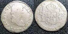 1821 Spain Mexico 1 Real Zacatecas Z AZ - Rare Silver  #F325E