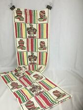 2 Vtg Length Of Mexican Theme Tea Towel Fabric 16 X 34