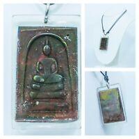 Leklai Rainbow Somdej Umklum Mountain Natural stone thai buddha amulet re001