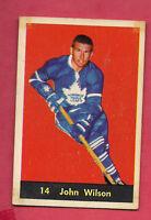 1960-61 PARKHURST # 14 LEAFS JOHN WILSON   CARD